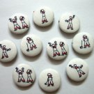 FABRIC BUTTONS - 1 INCH BUTTONS -PETIT MINICCO SET OF 50
