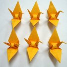 "100 SMALL GOLD ORIGAMI CRANES FOR WEDDING DECORATIONS 3.5"" X 3.5"""