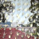 ORIGAMI CRANES GARLANDS IVORY AND PATTERN PRINT SET OF 100 STRANDS