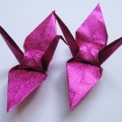 "1000 LARGE SHINY PINK ORIGAMI CRANES FOR WEDDING DECORATIONS 6"" X 6"""
