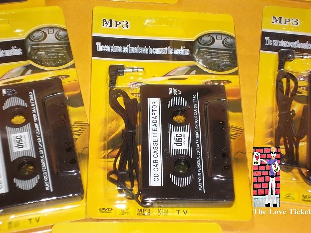 Car Audio Tape Cassette Adapter 3.5mm 2 pieces