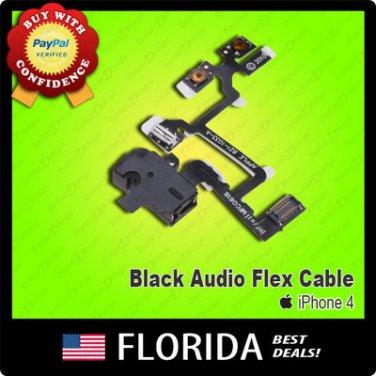 Black Volume Flex Cable Headphones Audio Button Jack Earphone Switch iPhone 4 4G