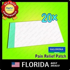 Salonpas Pain Relief Therapy 20 Patches neck shoulder back arthritis strain lot