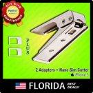 Nano Sim Card Cutter Punch Puncher Full Standard Micro iPhone 5 4S 4 3GS Adapter