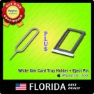 White Sim Card Tray Holder Slot Eject Ejection tool Pin iPhone 3G S 3GS