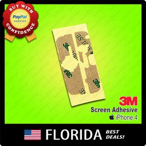 New Apple iPhone 4 Screen 3M Tape Adhesive Glue Sticker GSM CDMA AT&T T-Mobile