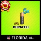5 pack lot AAA Duracell Alkaline Batteries Brand New Fresh Black Brown 5x x5