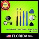 Black Home Menu Button Flex Cable Key Cap Assembly iPhone 4 4G Repair Tools Tool