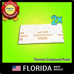 Lot 2 Heatsink Compound Thermal Paste Grease Packet Silicon Xbox RROD repair