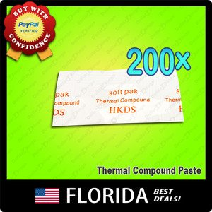 Lot 200 Heatsink Compound Thermal Paste Grease Packet Silicon Xbox RROD repair