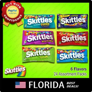 24 Bags Skittles Assortment Variety Packs American Candy 6 Flavors Bulk lot USA