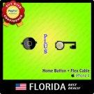 Black Home Menu Button Flex Cable Ribbon Cap Assembly Replacement iPhone 4 4G