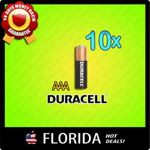 10 pack lot AAA Duracell Alkaline Batteries Brand New Fresh Black Brown x10 10x