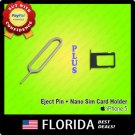 Black Nano Sim Card Tray Holder Replacement Parts iPhone 5 Eject Tool