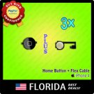 Black 3 lot Home Menu Button Flex Cable Key Cap Assembly iPhone 4 4G Replacement