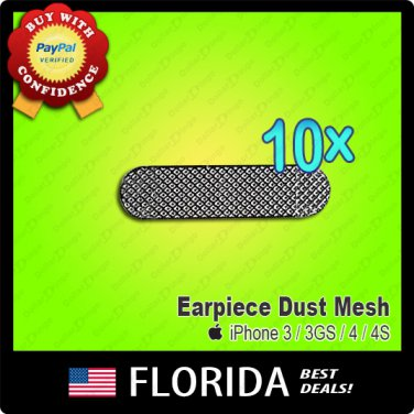 10 lot iPhone 3 3GS 4 4G 4S grill cover earpiece anti dust mesh genuinescreen
