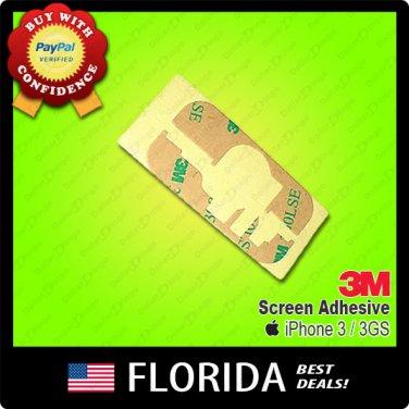 New Apple iPhone 3GS 3G 3M Tape Screen Adhesive Glue Sticker