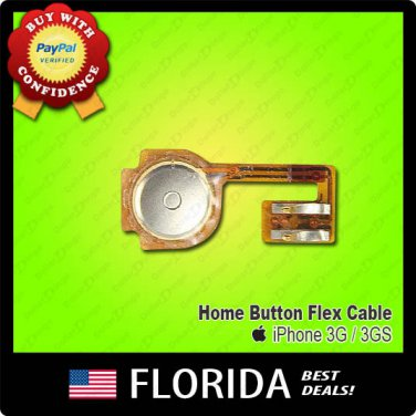 Home Menu Button Flex Cable Ribbon iPhone 3 3G 3GS Replacement Part New
