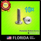 New 10 lot 5 Point Star Pentalobe Dock Bottom Screws iPhone 4 4G 4S Set 10x x10