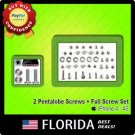 2 Pentalobe Star Bottom Screws + Full Replacement Screw Set Kit iPhone 4 4S 4G