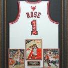 Derrick Rose Autographed Jersey Framed