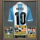 Lionel Messi Autographed Jersey Framed