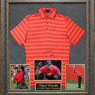 Tiger Woods Signed Shirt Framed