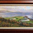 Linda Hartough Authentically Signed Canvas Print of Pebble Beach Hole #7