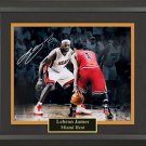 Signed LeBron James Collage Framed