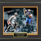 LeBron James Autographed Collage Framed