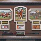 Triple Crown Champions Jockeys Autographed Framed