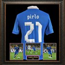 Andrea Pirlo Autographed Jersey Framed