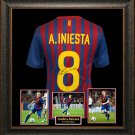 Andres Iniesta Autographed Jersey Framed