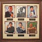 James Bonds 007 Signed Six Photo Collage Framed