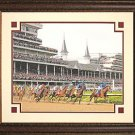 Kentucky Derby 1st Turn 8x10 Color Photo Framed