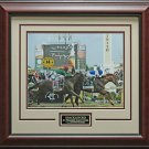 2011 Preakness Winner Shackelford Photo Matted and Framed