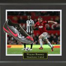 Wayne Rooney Signed Cleat Framed