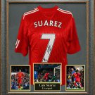 Luis Suarez Signed Jersey Framed