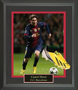 Lionel Messi Autographed Cleat Framed