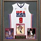 Michael Jordan Autographed Jersey Framed