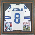 Troy Aikman Autographed Jersey Framed