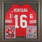 Joe Montana Autographed Jersey Framed