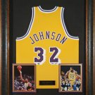 Magic Johnson Autographed Jersey Framed