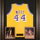 Jerry West Autographed Jersey Framed