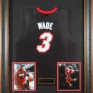 Dwyane Wade Autographed Jersey Framed