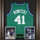 Dirk Nowitzki Autographed Jersey Framed