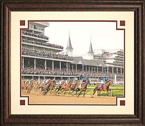 Kentucky Derby 1st Turn 16x20 Color Photo Framed