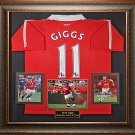 Ryan Giggs Autographed Jersey Framed