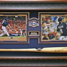 Ryan Braun Signed Bat Framed Display