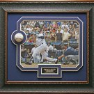 Derek Jeter Signed Baseball 3000th Hit Collage Framed